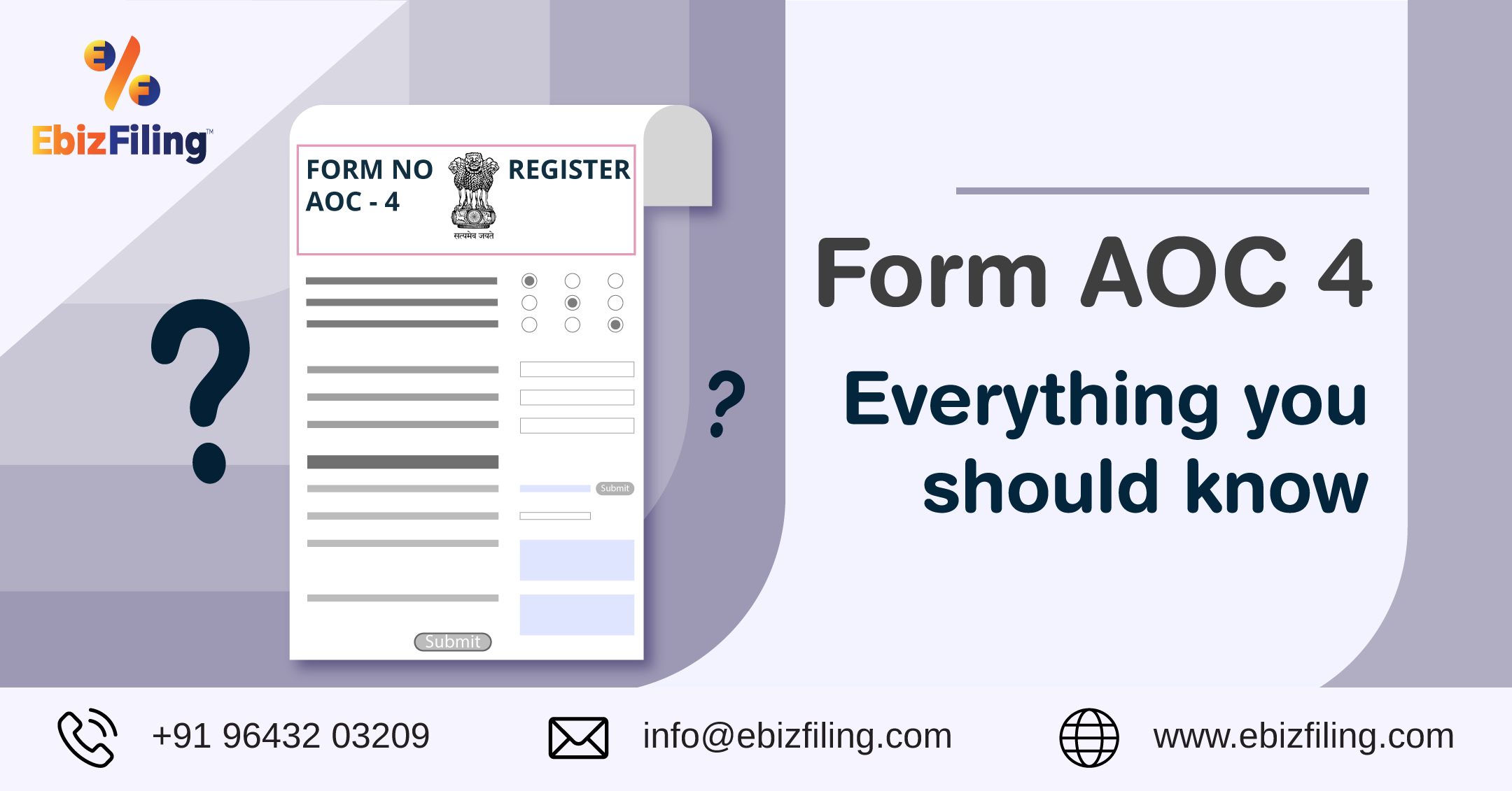 Form AOC 4, Due date for AOC 4, Penalty for late filing fees, additional fees for AOC4, Form AOC 4 due date