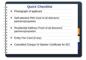 Documents required for IEC registration, Import Export Code, IEC Code, IEC license, Ebizfiling