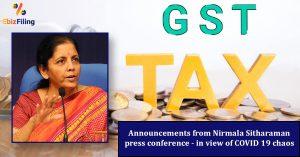 Announcements from Nirmala Sitharaman