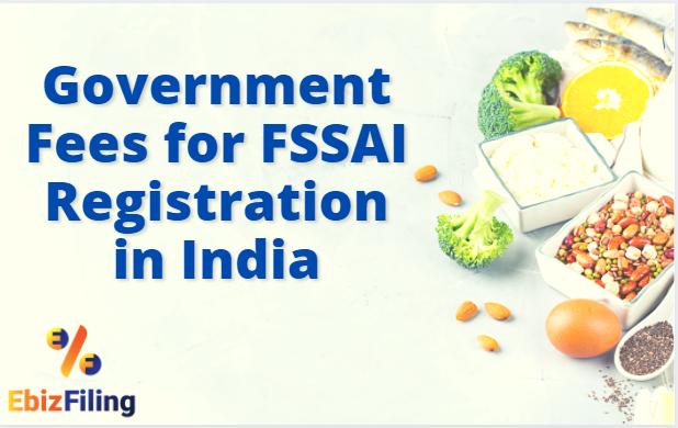 Fees for FSSAI registration, Fees for FSSAI License, FSSAI registration, FSSAI license, Ebizfiling