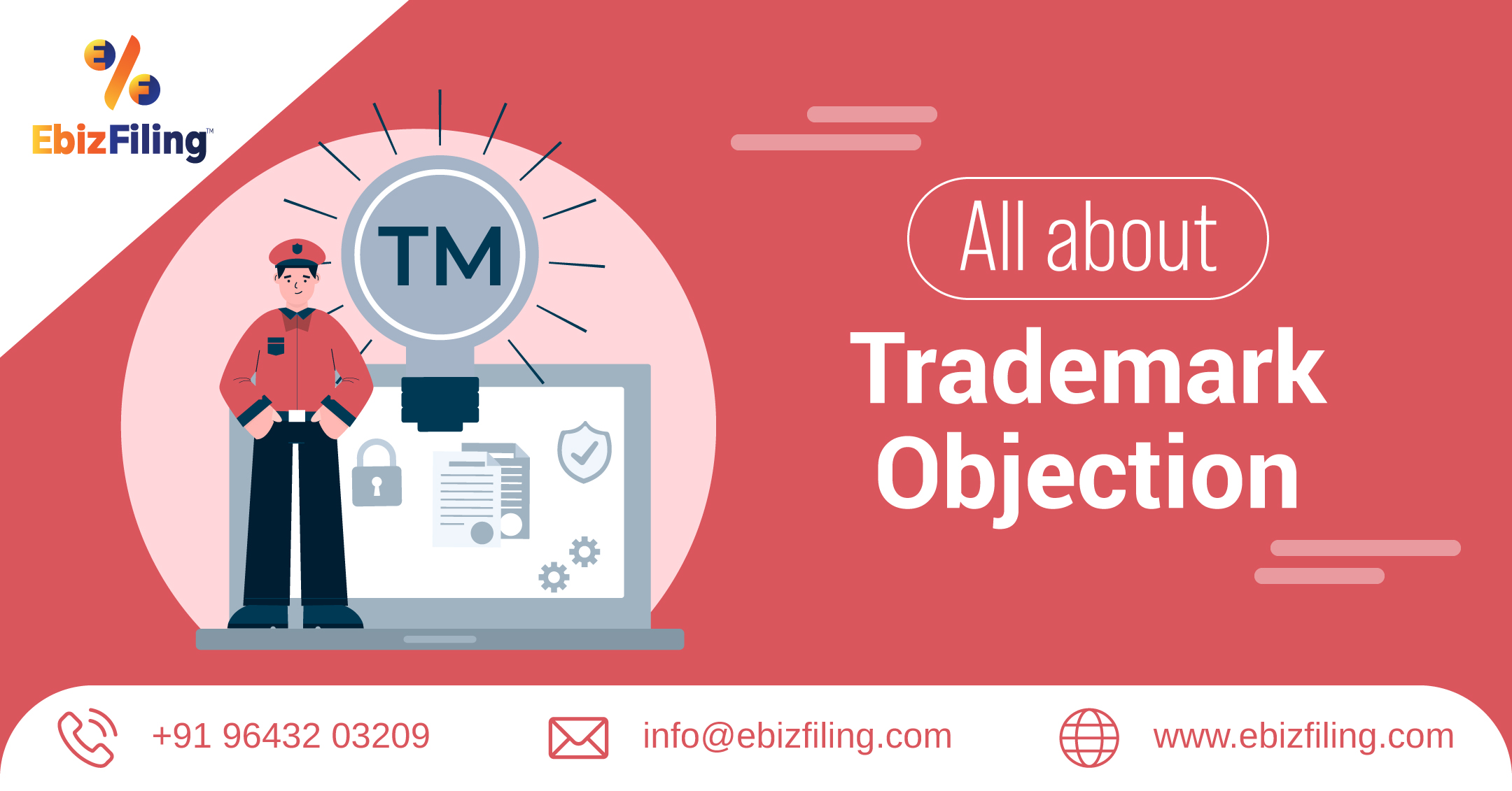 Trademark objection, Trademark Objection Reply, documents required for Trademark objection, ebizfiling, trademark registration, trademark examination